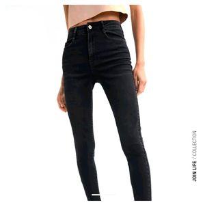 ZARA Black Jeans Skinny Mid Rise